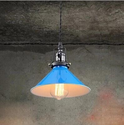 American Country Style Vintage Pendant LIght Fixtures For Dinning Room With Bule Lampshade ,Foscarini Industrial Lamp
