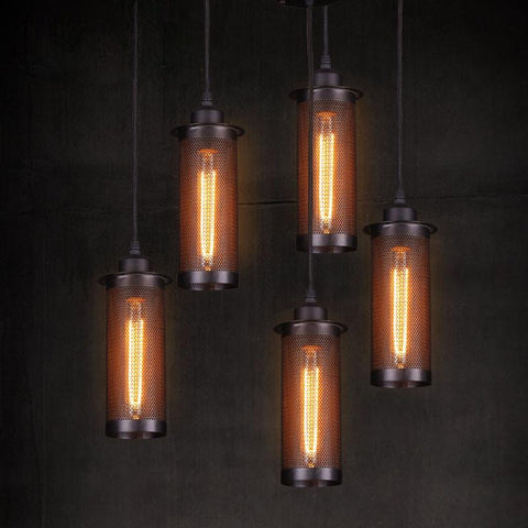 $62.06- Retro Edison Style Loft Industrial Light Vintage Lamp Pendant Lights Fixtures Lampen Hanging Lamp Suspension Luminaire