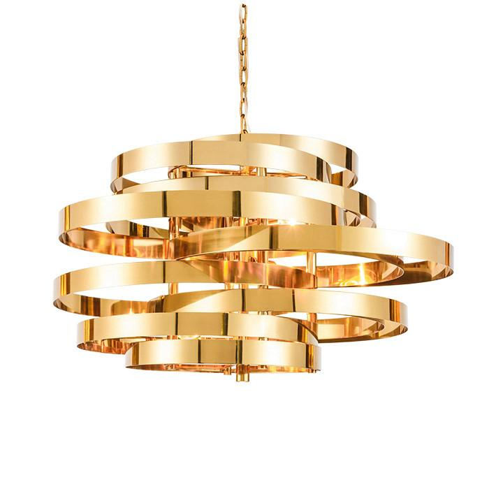 1096 51 post modern plating twist led pendant light stainless gold color suspension light minimalist creative 1370 64 designer boutique style direct