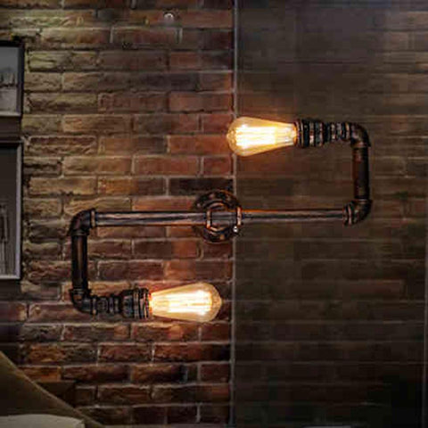 American Village Living Room Folding Telescopic Bedside Lamp Industrial Mechanical Arm Long Arm Bar Retro Iron Lamp