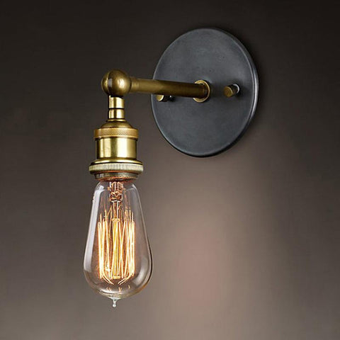 $22.66- E27 110220V Vintage Wall Lamp Loft Coppor Industrial Edison Simple Fashion Lamp Rustic Sconce Wall Light