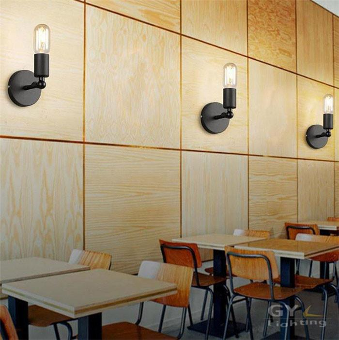american country nordic loft wall mounted balcony corridor lighting retro nostalgia simple wall lamps sconces applique murale - Loftwall
