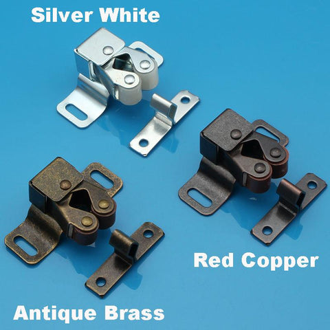$1.86- Big Size Double Roller Bronze Plate Door Latch Wardrobe Catch Kitchen Cabinet Cupboard