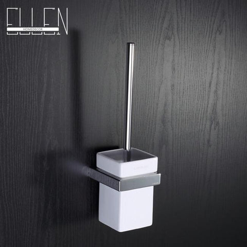 $63.50- Toilet Brush Wall Square Toilet Brush Holder W/ Black Toilet Brush