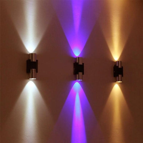 $17.29- Led Modern Wall Lamp 2W Ac85265V Sconce Decor Fixture Light Lamp W/ Scattering Light For Bedroom/Dinning Room/Restroom