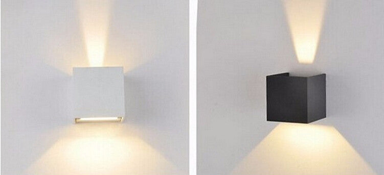 $20.13- Led Wall Lamp Ip65 Cube Adjustable Surface Mounted Outdoor Led Lighting Led Garden Wall Light Up Down Led Wall Light Wall Sconce