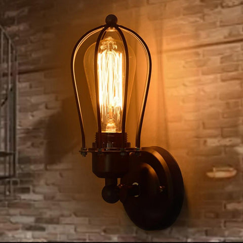 110-220v Retro Vintage Industrial Edison Simplicity 1 Light Wall Mount Light Sconces Aged Steel Finished Antique lamp