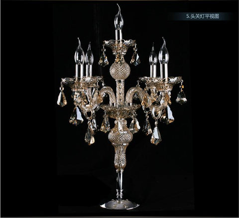 $248.16- Factory Direct Large Candelabra Lamp Crystal Table Lamp Desk Lamp Big Candle Holder Bedroom Hotel Table Light