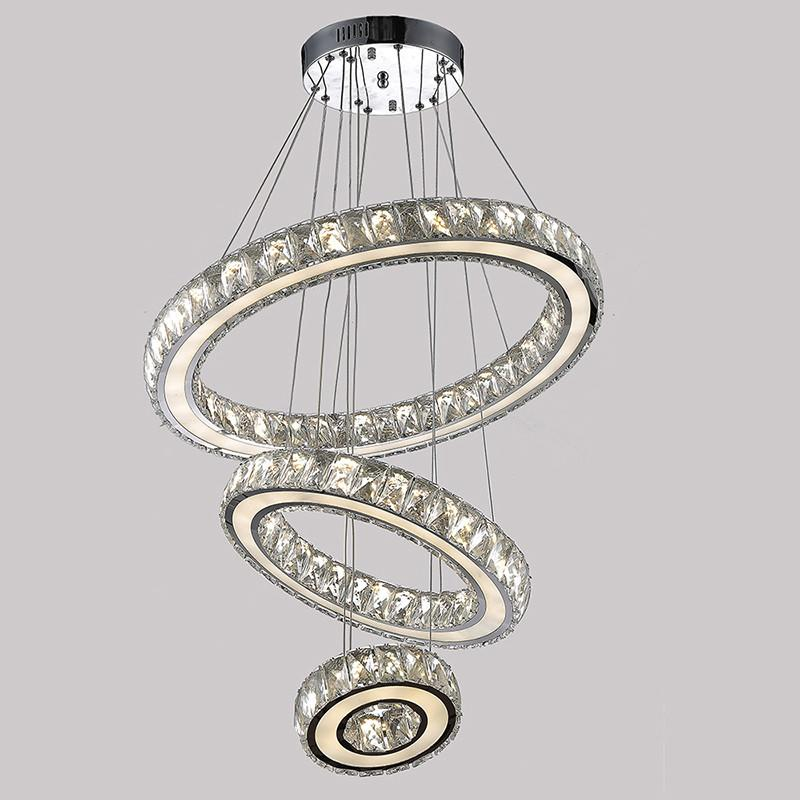 Buy Modern K9 Large Led Round Living Room Crystal Chandeliers ...