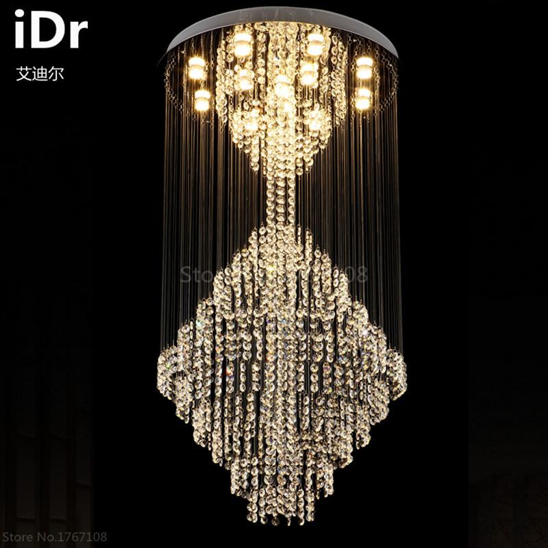 Buy large crystal chandelier lamp living room luxury penthouse stair 225990 large crystal chandelier lamp living room luxury penthouse stair lamp led long lobby chandelier aloadofball Image collections