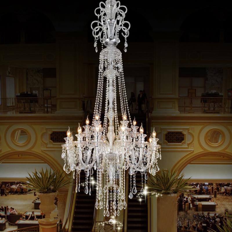 Buy large candle chandelier big chandelier luxury crystal 158400 large candle chandelier big chandelier luxury crystal chandeliers star hotel candle holder modern large aloadofball Image collections