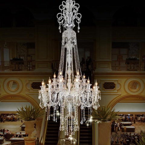 $1584.00- Large Candle Chandelier Big Chandelier Luxury Crystal Chandeliers Star Hotel Candle Holder Modern Large Led Chandelier Lamps Wal