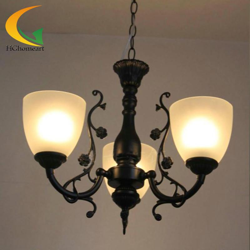 $137.33- Continental Iron Lights Restaurant Chandelier Three Bedroom Lamp Living Room Ceiling Lights Minimalist Led Chandeliers
