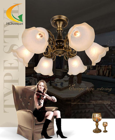 $252.13- Continental Jane European Restaurant Chandelier Living Room Chandelier Led Bedroom Lamp Study Lamp Iron Ceiling Lights
