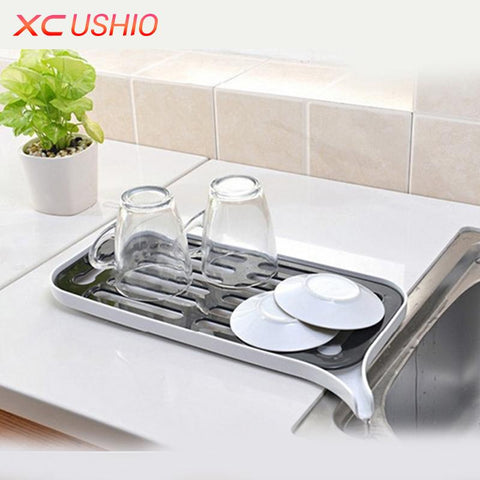 Multifunctional Double Layer Kitchen Drain Shelf Sink Draining Rack Tray Dish Bowl Storage Holder Vegetable Fruits Draing Board