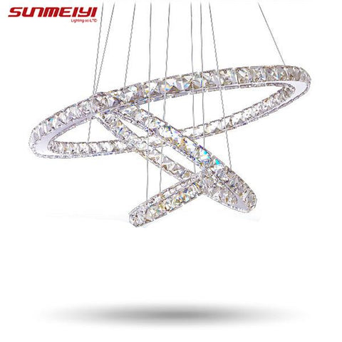 $91.43- Modern Led Crystal Chandelier Lights Lamp For Living Room Cristal Lustre Chandeliers Lighting Pendant Hanging Ceiling Fixtures
