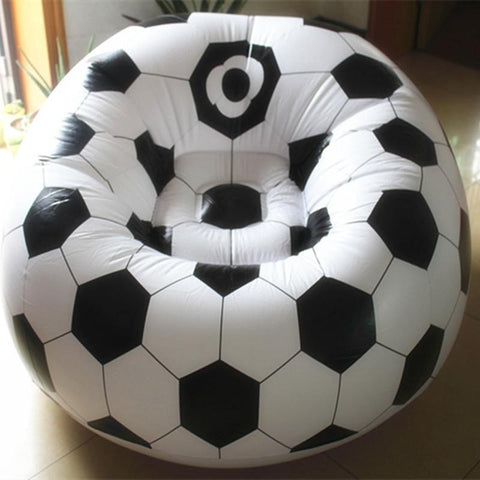 $78.50- Living room sofa Inflatable basketball football sofa couch single seat settee Environment PVC white black Bearing100kgs Lounge