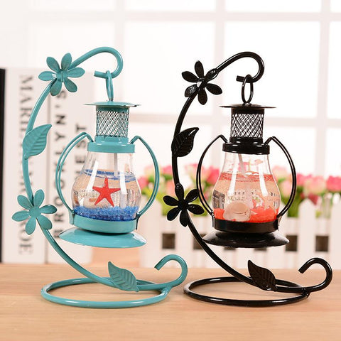 $15.62- Aladdin Lamp Metal Candle Light Containers Creative Ornaments Crafts Candlestick Festival Hanging Tealight Holder Candle Holder
