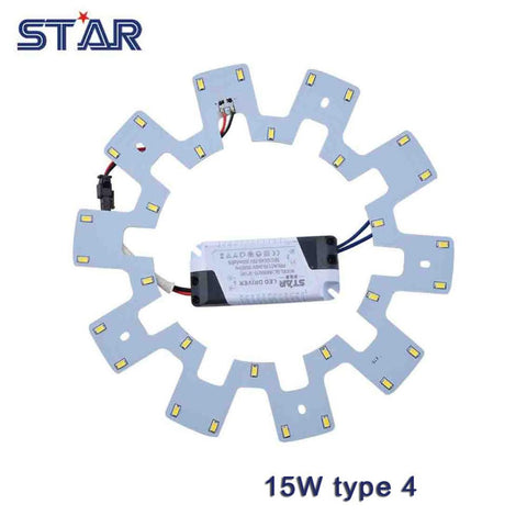 15W Led Ceiling Light Diy Replacement Magnet Board Pcb Smd5730 110-240V Emergency Fluorescent Cfl Lamp Panel Light Led Ring Tube
