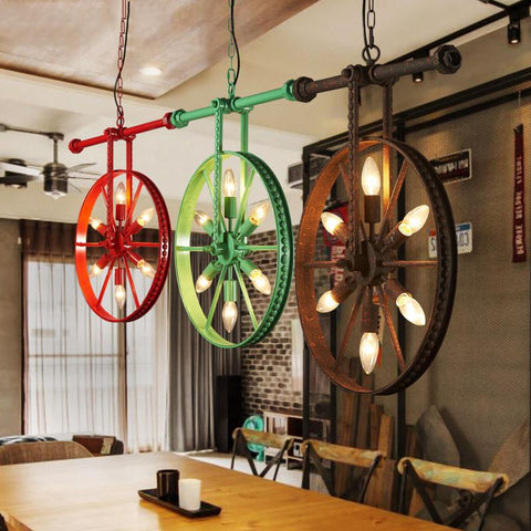 Edison Retro Loft Style Industrial Vintage Pendant Lights Fxitures Bar Dinning Room Rope Pipe Lamp