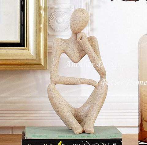 $101.97- Studyroom resin figure art decor bookend crafts thinking man artificial sandstone figure craft home decor gifts abstract statue