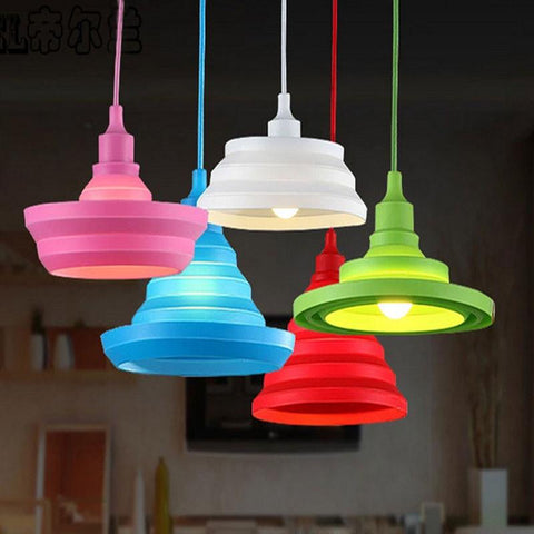 $9.73- Modern Home Lighting Fixture Colorful Retro Vintage Lamp For Living Room Lustre Suspension Luminaire Loft Style Led Dining Light