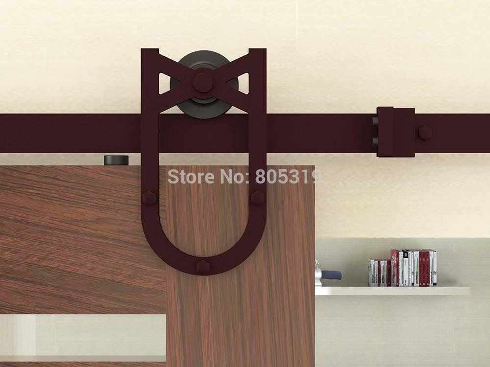 $168.30- 6.6Ft Horseshoe Style Sliding Barn Door Hardware