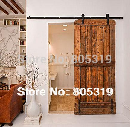 $144.50- 6.6Ft Modern Sliding Barn Door Hardware&Interior Sliding Wooden Door Kit
