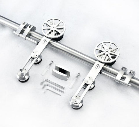$305.25- European Style High Quality Stainless Steel Sliding Barn Wood Door Hardware Sliding Barn Track Hardware
