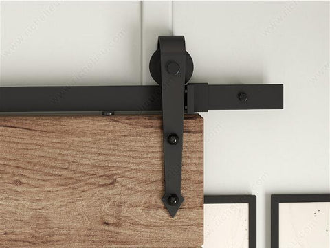 $134.64- American Arrow Style Black Rustic Sliding Barn Door Hardware Sliding TrackMany Size For Selection