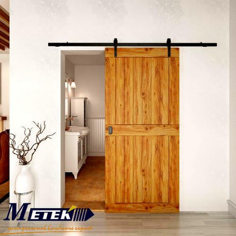 $154.00- 4.9Ft/6Ft/6.6Ft Carbon Steel Interior Sliding Barn Wood Entry Door Hardware