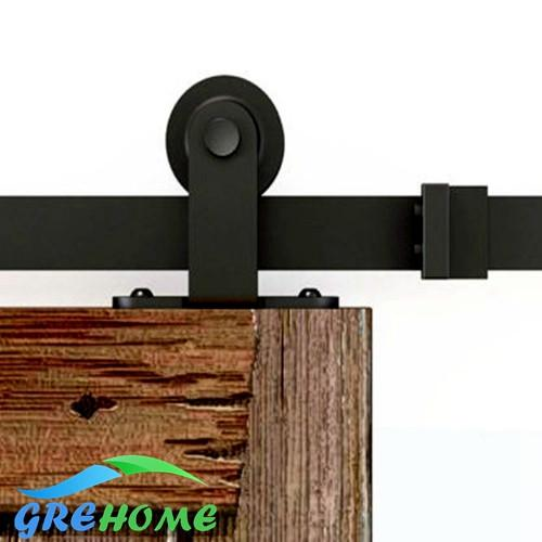 $221.00- 4.9Ft/6Ft/6.6Ft Carbon Steel Interior Sliding Barn Wood Entry Sliding Door Fittings