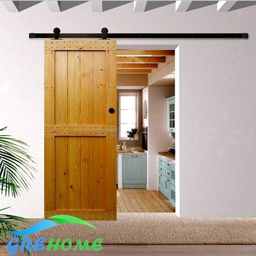 $90.00- 4.9Ft/6Ft/6.6Ft Carbon Steel Interior American Style Top Mount Sliding Barn Door Kit