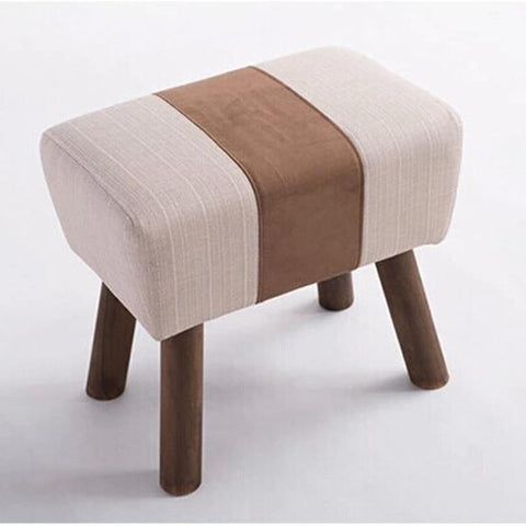 $258.85- 100% Wood Foot Sofapure Cotton Fabric Sofasolid Wood Furniture Style Solid Wood Sofalive Room Furniturewood Stools