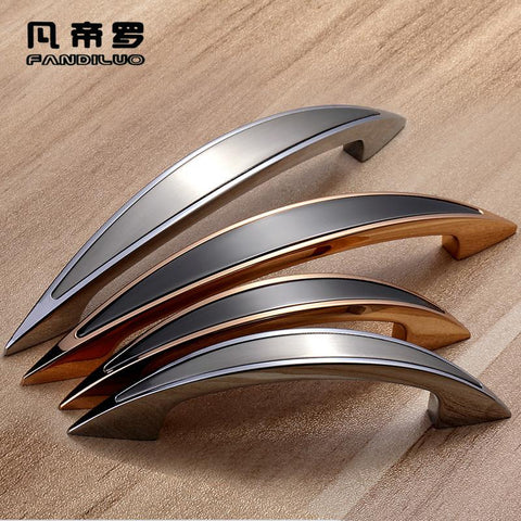 High-Grade Ambry Drawer Handles Furniture Knob Wardrobe Door Handle Contemporary Contracted Kitchen Cabinet Black Pulls
