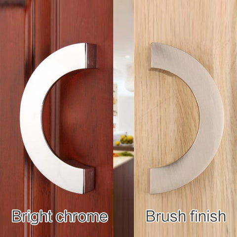 $7.32- SemiCircular Drawer Cabinet Furniture Hidden Recessed Flush Pull Nckel Pating Handle Sliding Hinged Door Knob