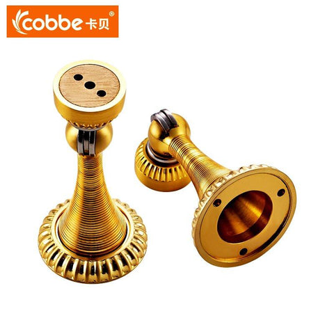 $35.64- HighQuality Thick Copper Door Stopper Bedroom Magnetic Door Holder Gate Bathroom Inhale Wall Suction European Style Hardware