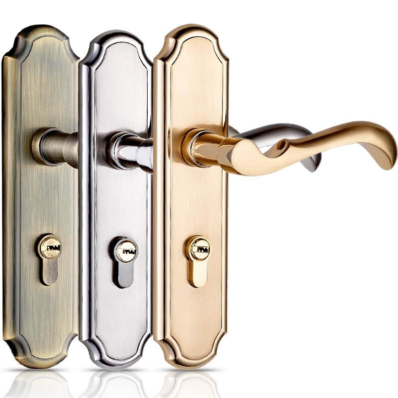 Buy HighQuality Door Lock Bedroom Door Interior Room Door Solid Wood Gate  Locks Door Handle Simple Double Lock Tongue W/ 3 Keys $130.50- ICON2