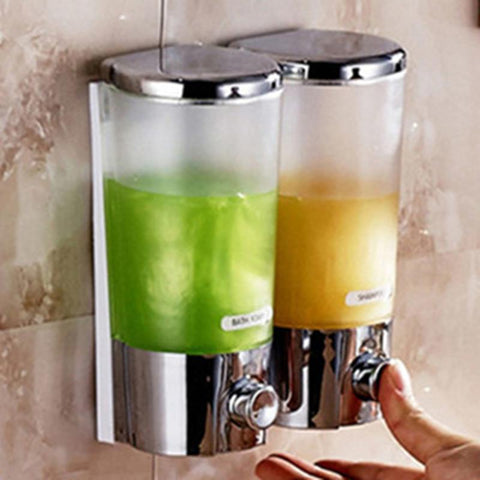 $16.53- Distributeur De Savon Liquide Mural Kitchen Shampoo Shower Soap Dispenser Wall Hand Foam Dispenser For Kitchen Bathroom Washroom
