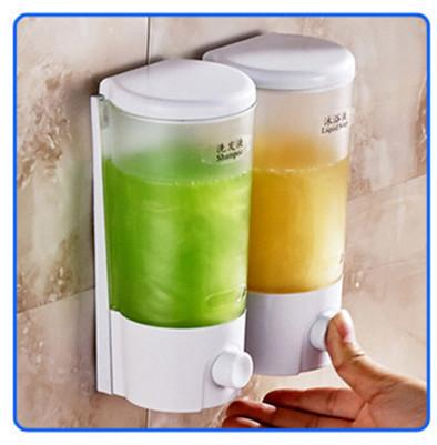 $26.33- Distributeur De Savon Liquide Mural Kitchen Shampoo Shower Soap Dispenser Wall Hand Foam Dispenser For Kitchen Bathroom Washroom