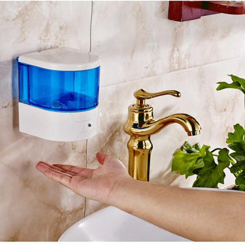 $44.37- 600Ml Automatic Soap Dispenser Pump Sensor Touchless Soap Dispenser For Public Toilet Bar Office Room Auto Liquid Dispenser