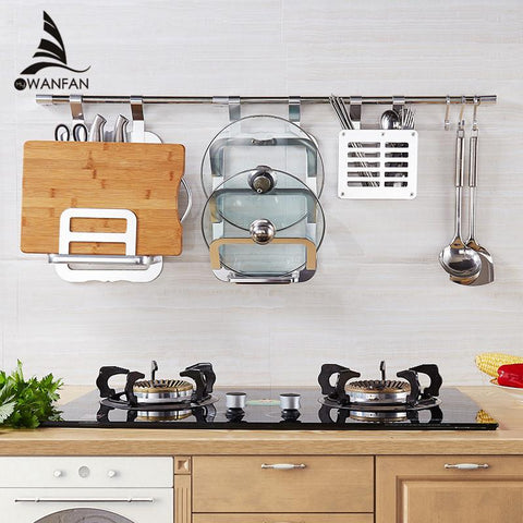 $24.84- Space Aluminum Kitchen Shelf Storage Rack Tool Holder Seasoning Sooktops Wall Kitchen Rack Kitchen Cooking Spice Rack YgT988