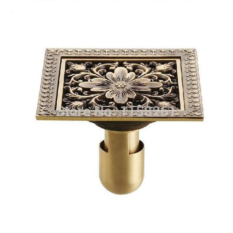 12*12cm  New Arrival Antique Bronze finish Fashion design Euro Square floor drain shower drain bathroom furniture HJ-8702S