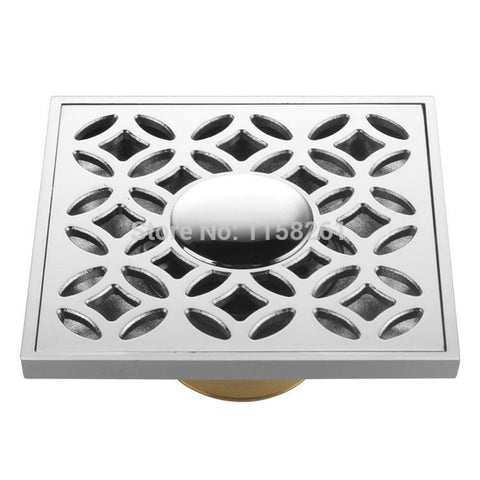 10x10cm High quality Floor Drain Linear shower drain Square  Brass washing machine use Bathroom Sanitary  Waste Grate BS-8121A