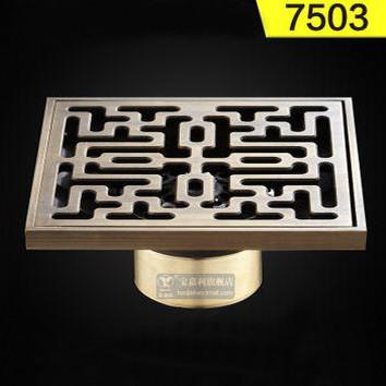 $31.14- 4 10*10Cm Euro Square Antique Brass Art Carved Flower Bathroom Sanitary Floor Drain Waste Grate Drain Sink Blj75
