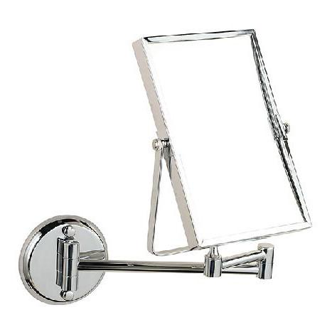 $83.05- 8 Double Side Bathroom Folding Brass Shave Makeup Mirror Chromed Wall Mounted Extend W/ Arm Round Base 3X Magnifying 1758
