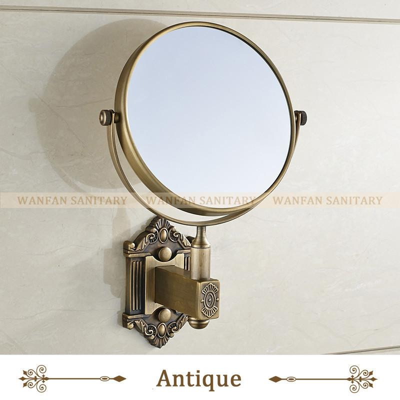 $63.72- Antique Brass 6 Inch WallMounted Two Sided Beauty Makeup Mirror Metal 3X Magnifying Cosmetic Mirror Bathroom Mirror Wf71241