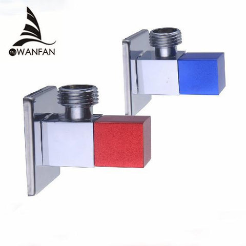 $26.10- High Quality 1/2Male Brass Bathroom Angle Stop Valve Chrome Finish Filling Valves Bathroom Parthj0311L