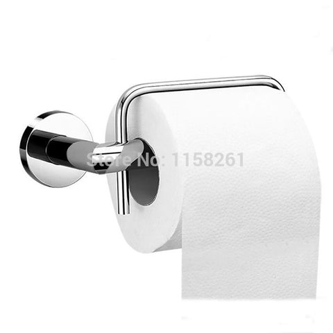 $35.28- Euro Style Bathroom Accessories Products Solid Brass Chrome Toilet Paper HolderRoll Holder Holder W/out Cover Fm3686