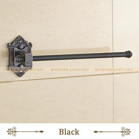 $35.10- Antique Brass Single Towel Bar Towel Rack Holder In The Bathroom Wall Mounted Towel Ring Bathroom Accessories Wf71220
